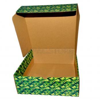 """Подарочная коробка """"камуфляж"""" 25*25*10 см"""